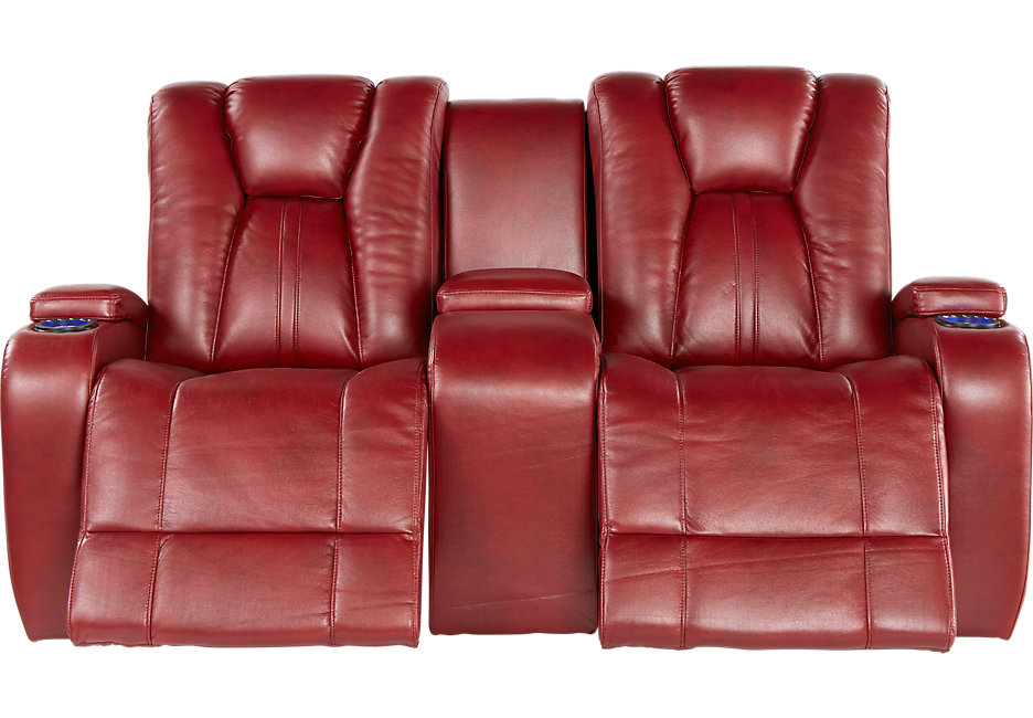 Excellent leather loveseat recliner kingvale red power reclining console loveseat tzuxkny