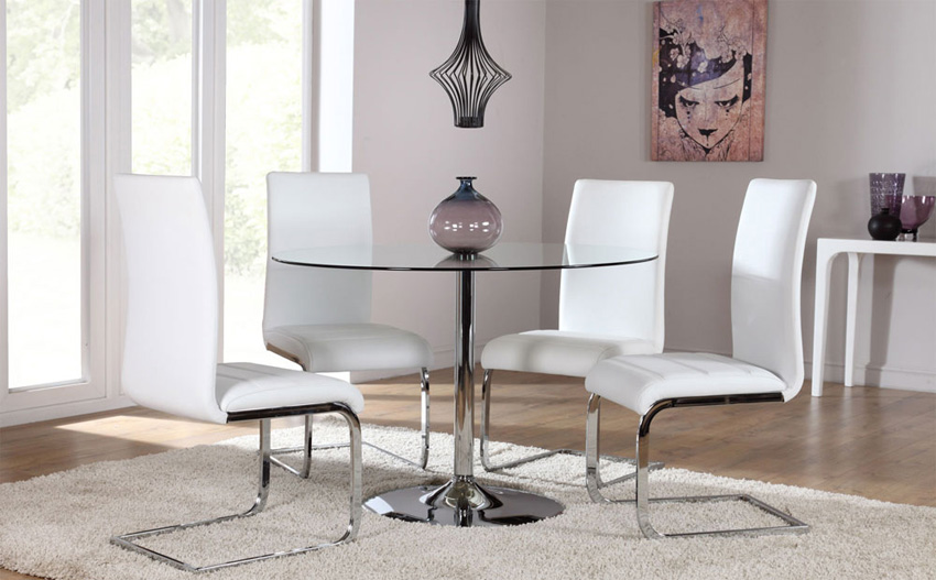 Excellent round glass dining table ... top design round glass dining room tables photo glass kitchen table sets hiozjti