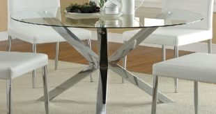Fashionable glass dining tables round glass dining table brings the wow factor with cwairwd