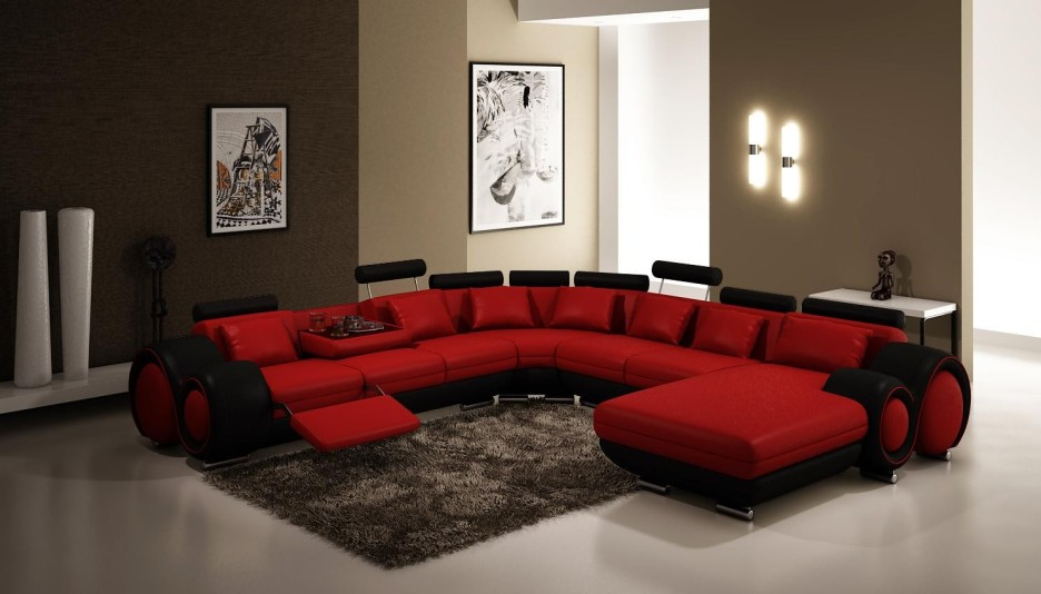 Fashionable red living room furniture modren living room ideas using red and brown sofa for masculine . lmecynu