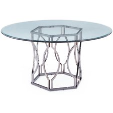Fashionable round glass dining table viggo glass dining table ojvewff