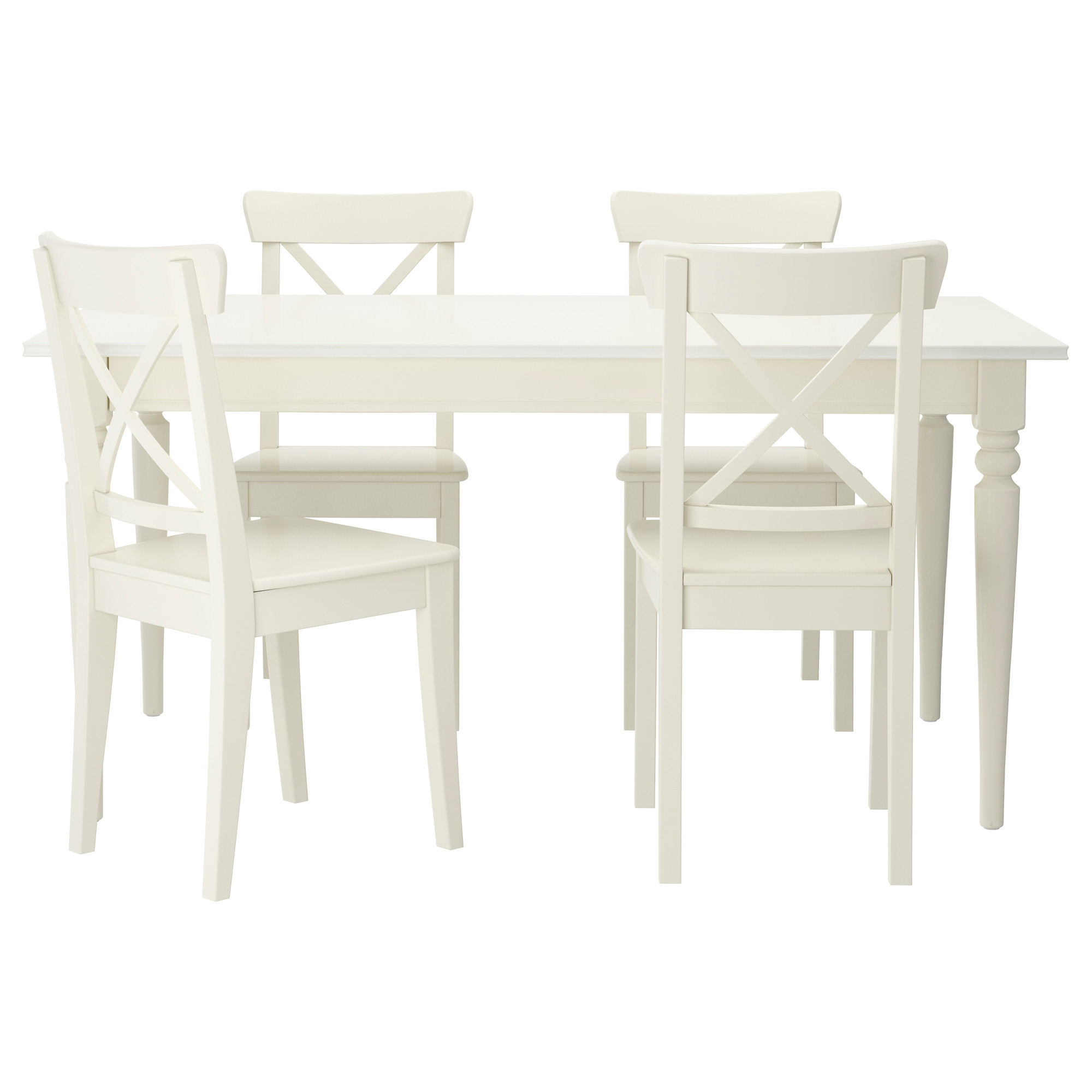 Fashionable white dining table and chairs ingatorp / ingolf table and 4 chairs - ikea bklceiy