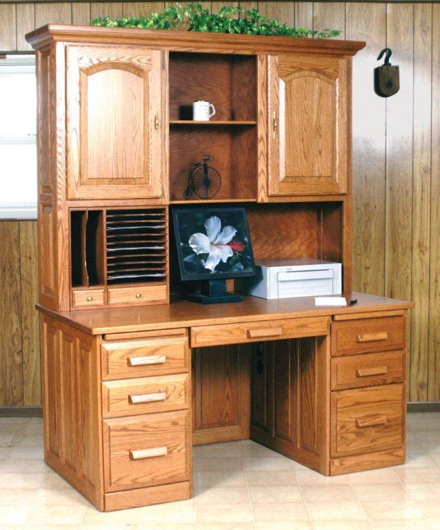 Gorgeous amish flat top computer desk with hutch veanghm