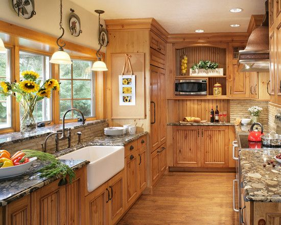 Great knotty pine kitchen cabinets furniture, traditional kitchen with pine cabinets also white sink and  classic faucet xvbtnju