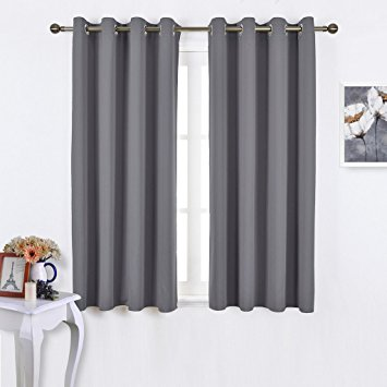 Great nicetown bedroom blackout curtains panels - window treatment thermal  insulated solid grommet mptlalb