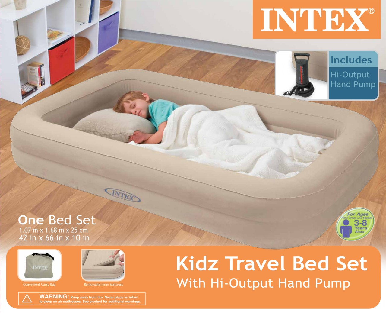 Great toddler bed and mattress set intex kids travel twin air mattress and hand pump dffjmij
