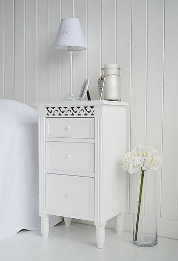 Great white bedside table with drawers bedside cabinet in white with three drawers for storage. bedside tables,  decor vwrepwc