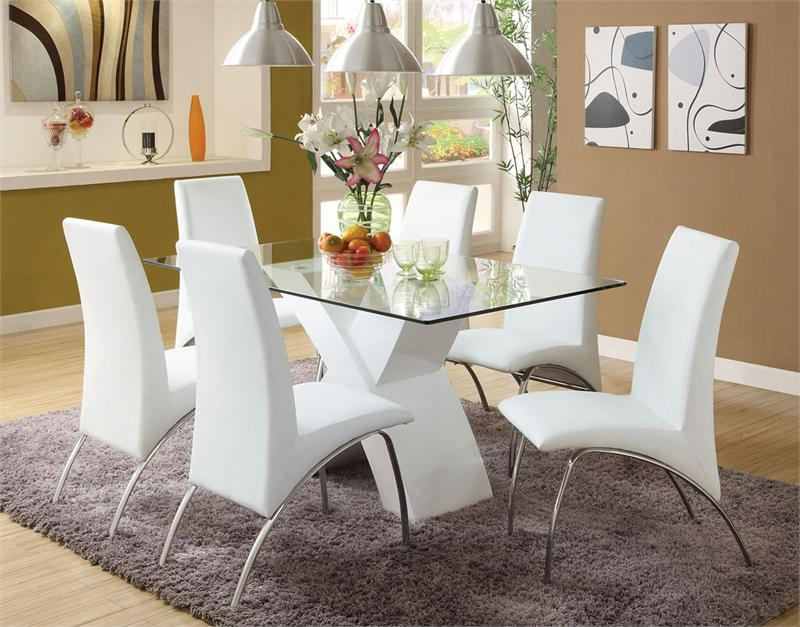 Great white dining table and chairs image of: white dining room table and chairs ideas omesrja