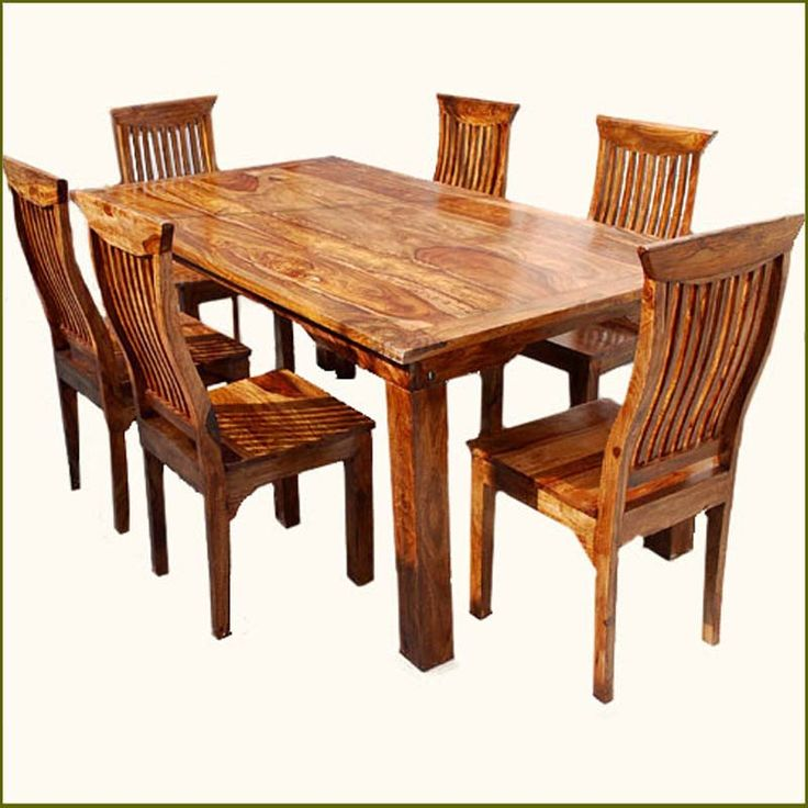 Great wooden dining table and chairs rustic solid wood dining table u0026 chair set furniture rukbeqx