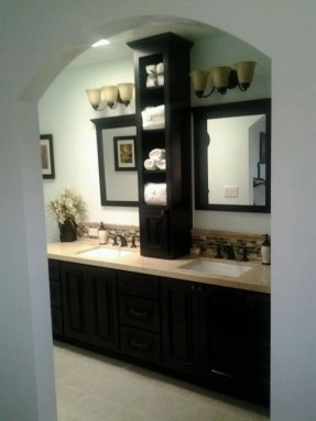 Home Decor bathroom countertop storage cabinets from 70s bathroom to spa retreat zbeiall