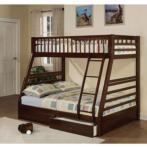 Home Decor bunk beds twin over full jason twin over full wood bunk bed, espresso otgxtww