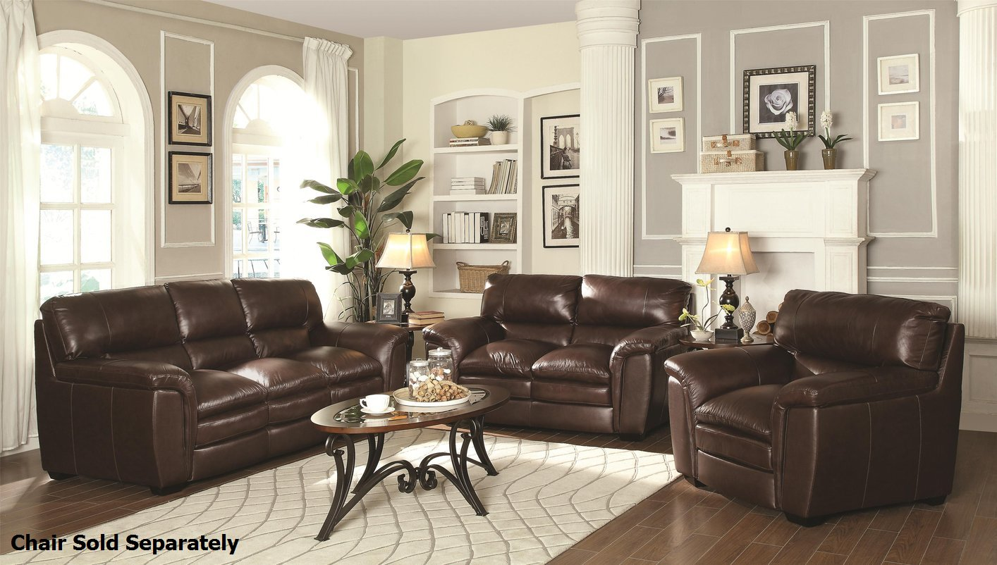 Home Decor burton brown leather sofa and loveseat set ubteolf