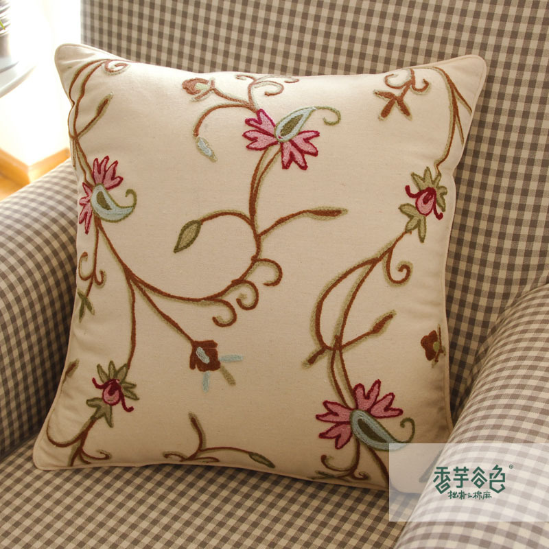 Images of embroidered cushion covers nordic style handmade cushion covers embroidered cushion cover beautiful cushion  covers jkuisme
