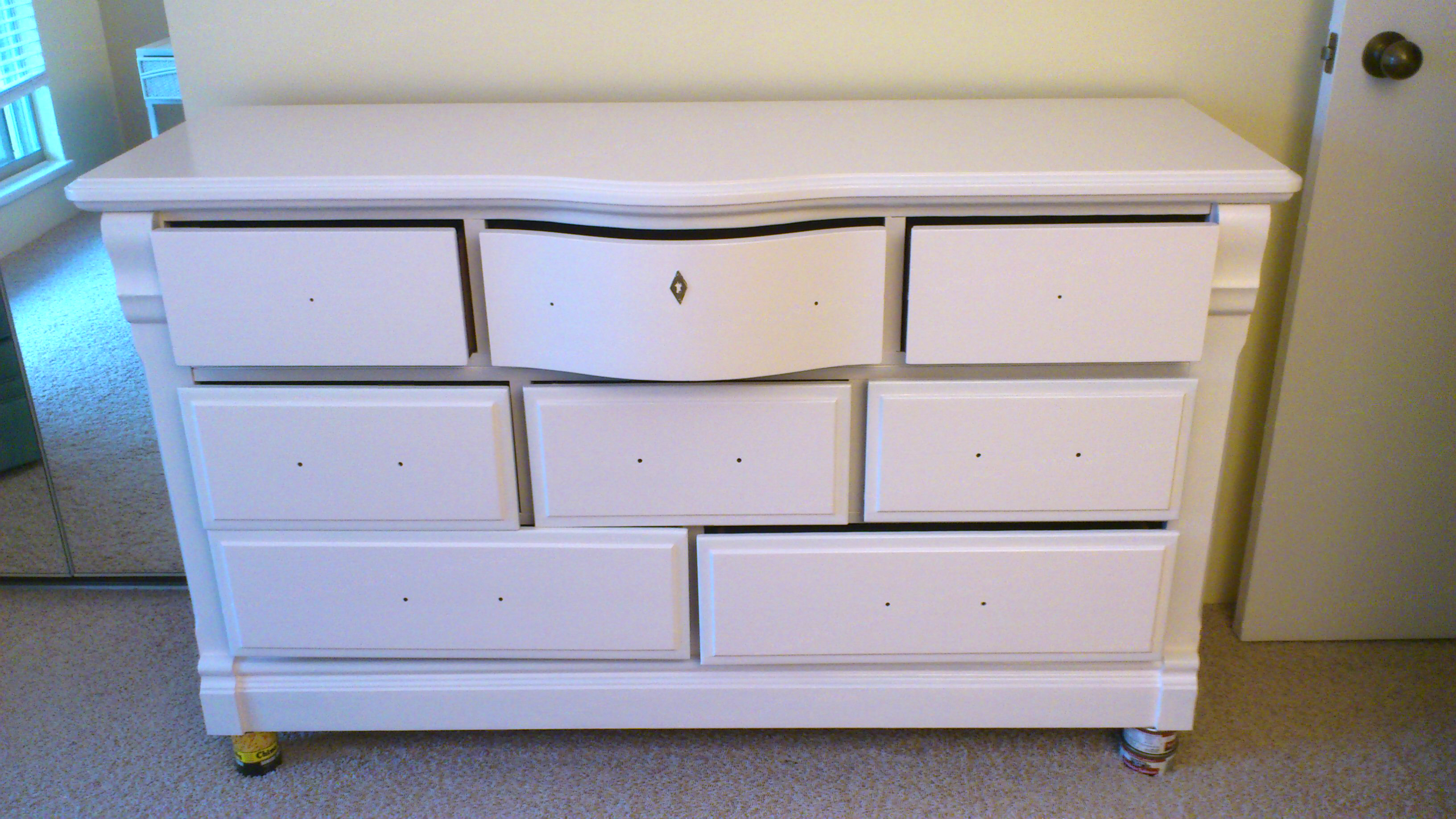 Images of painted bedroom furniture handy gal tools updates dresser to white skvywbr