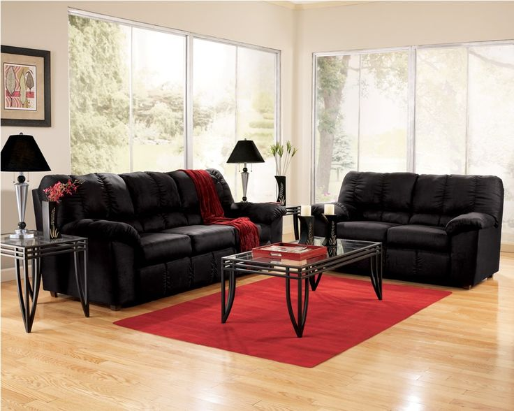 Images of red and black living room furniture set with amazing wooden floor hanpjxo