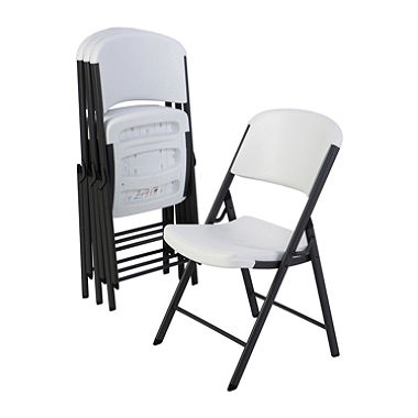 Images of white folding table and chairs lifetime commercial grade contoured folding chair, select color - 4 pack - vrhecjv