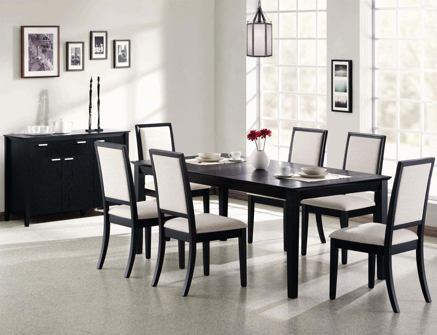 Impressive black dining table and chairs black and wood dining table chairs best room se rahjblr