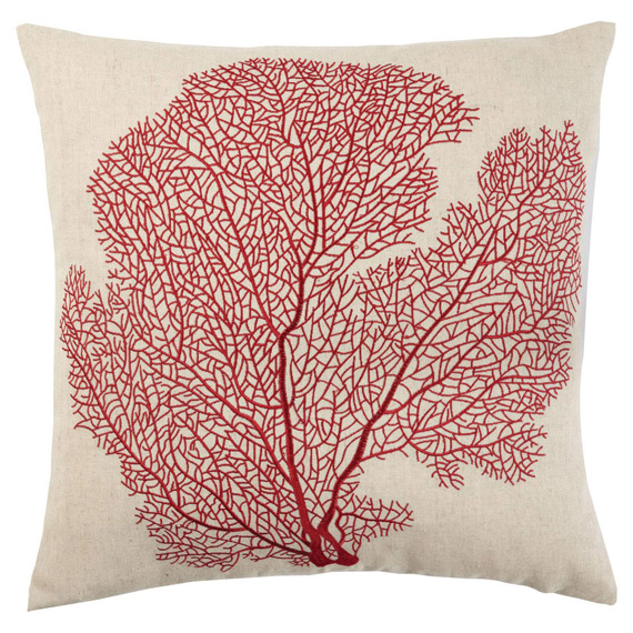 Impressive embroidered cushion covers ... coral embroidered cushion cover, linen - cream/natural ... xopkpwt