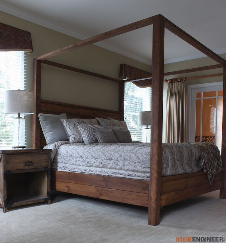 Inspiration king size bed frame and mattress canopy bed - king size yjepabk