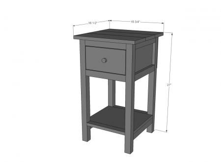 Inspiration small black bedside table ana white | build a mini farmhouse bedside table plans | free and cmxxtow