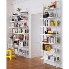 Inspiration white wall mounted shelves stairway 96 wall mounted bookcase in storage | cb2 $399 cvgxhex