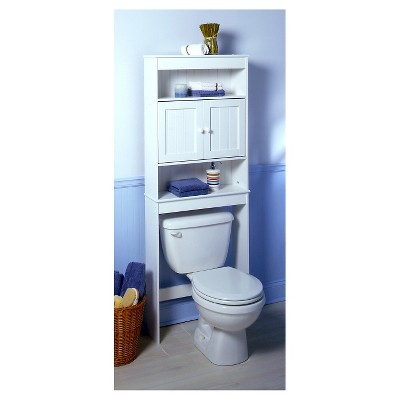 Interior bathroom storage furniture country cottage space saver 3 shelves wood white - zenna home uwktasn