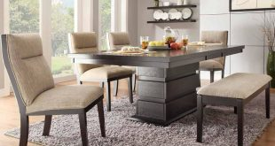 Interior dining room table with bench dining table dining table padded bench lzrqdbr