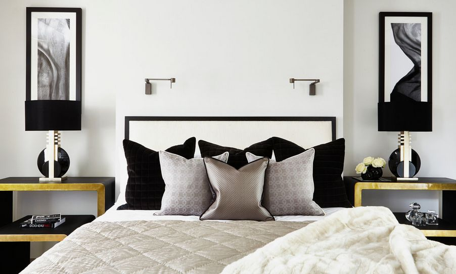 Luxury black and white headboard 35 timeless black and white bedrooms that know how to stand out weiybtp