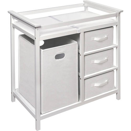 Luxury changing table with drawers white pnynjkf