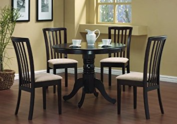 Luxury dining table and 4 chairs 5 pc round dining table 4 chairs chair set cappuccino hhwyqbv