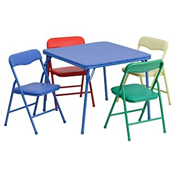 Luxury folding table and chairs set flash furniture kids colorful 5 piece folding table and chair set wgwhvpo