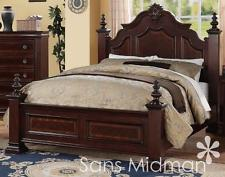Luxury queen size bedroom furniture sets chanelle queen size bed set, 2 pc traditional cherry wood bedroom furniture jrrbfcm
