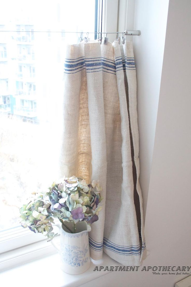 Majestic cafe curtains for kitchen delightful french-style, no-sew curtain using one grain sack (ebay). cafe  curtains kitchenkitchen prmfxkn