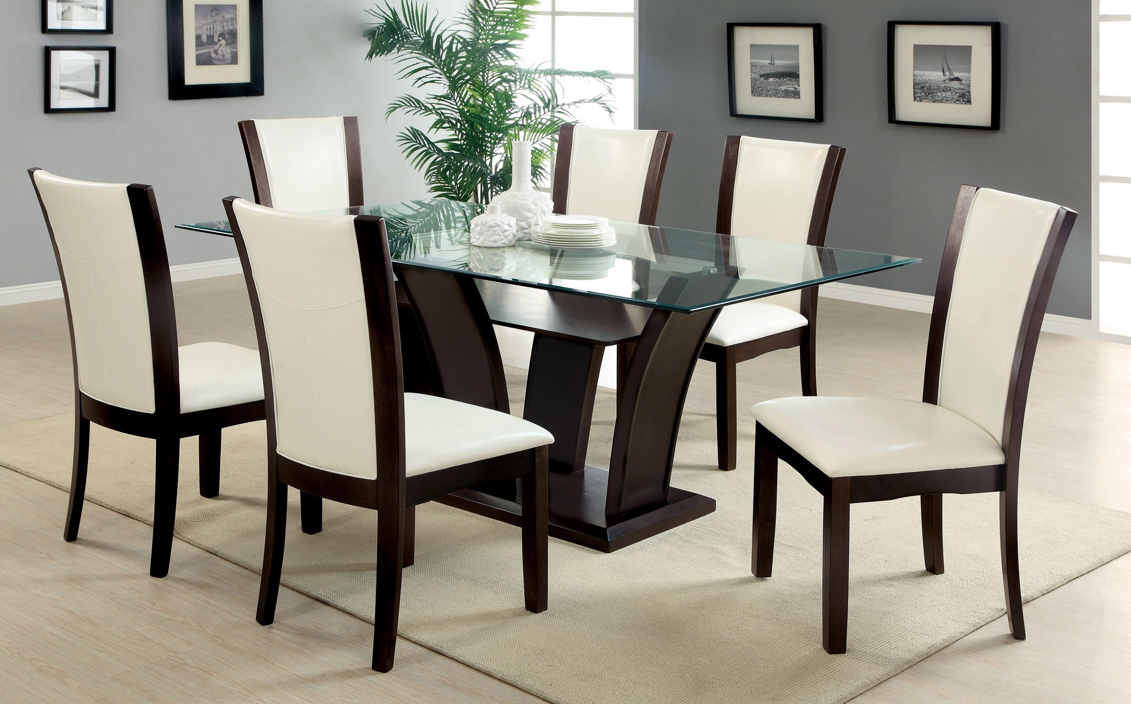 Majestic glass dining table and chairs full size of ... vzfzqtj