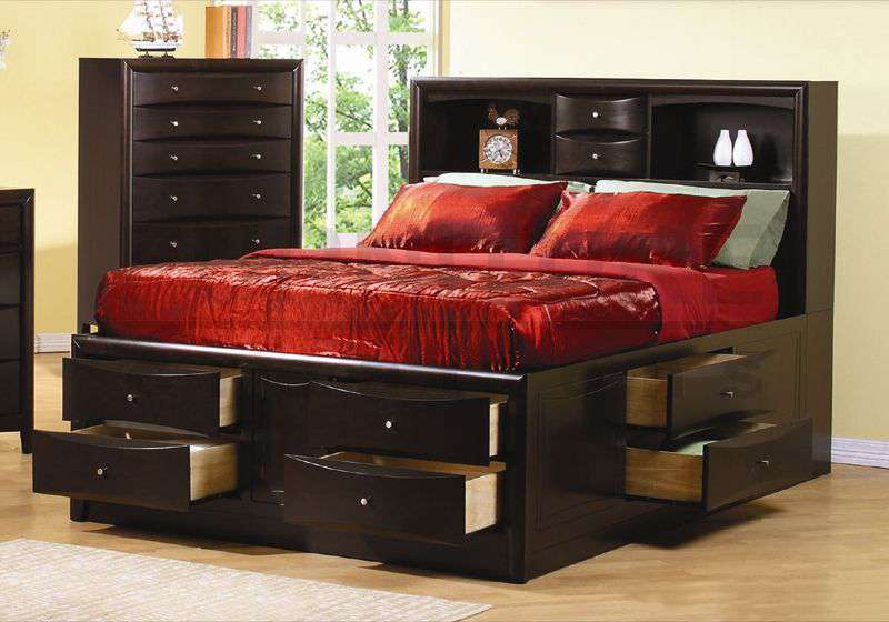 Majestic king size bed frame with drawers image of: king size bed frame with storage type liopcek