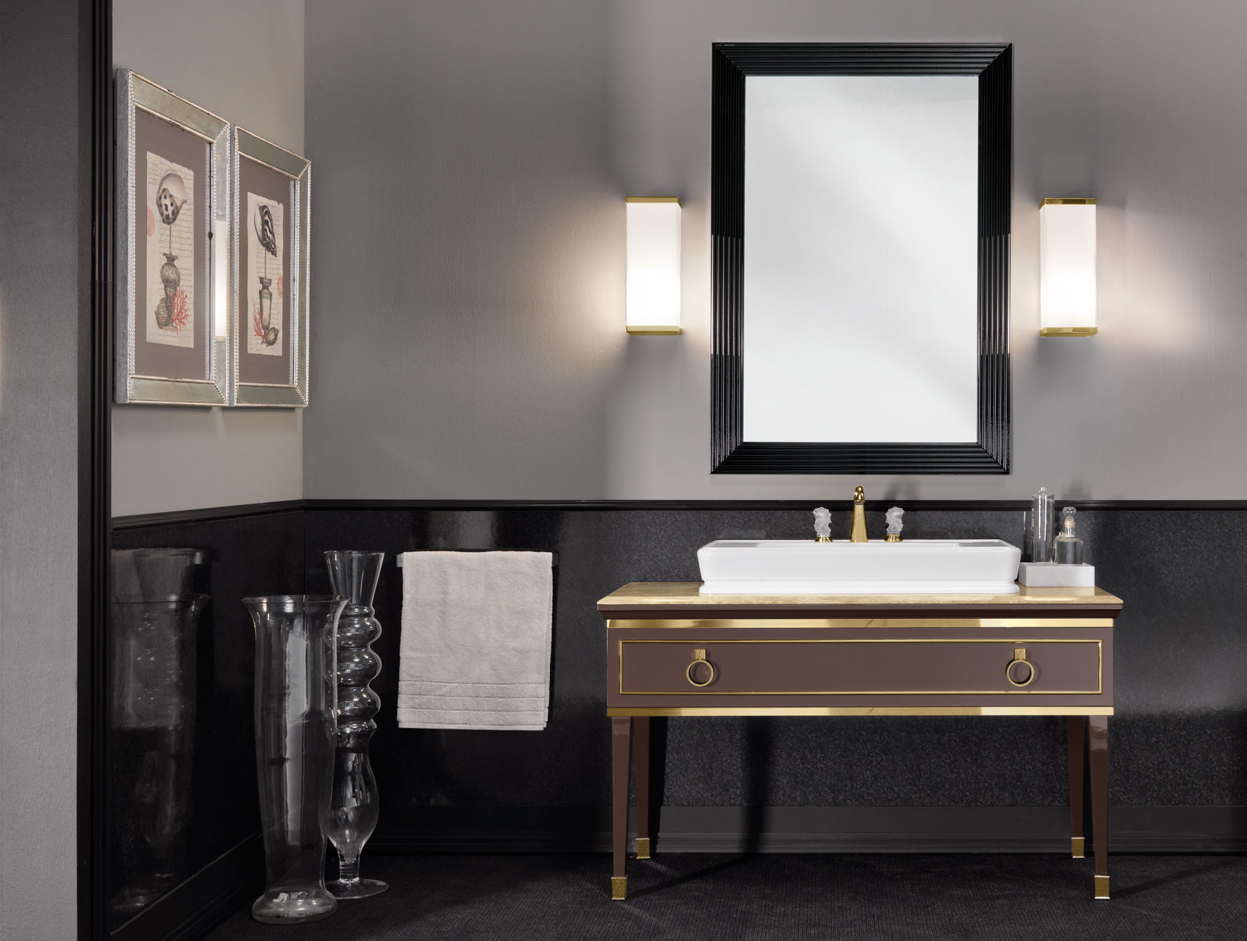 Majestic luxury bathroom vanities available in 2 colors. ♥ sfttywg