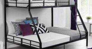 Master bunk beds twin over full mainstays twin over full metal bunk bed, black pfvmdyt