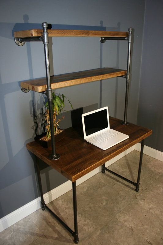 Master computer desk with shelves computer desk w/storage shelves - reclaimed wood iuseixd