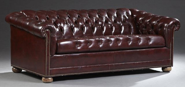 Master english style tufted leather chesterfield sleeper sofa, aphejdt