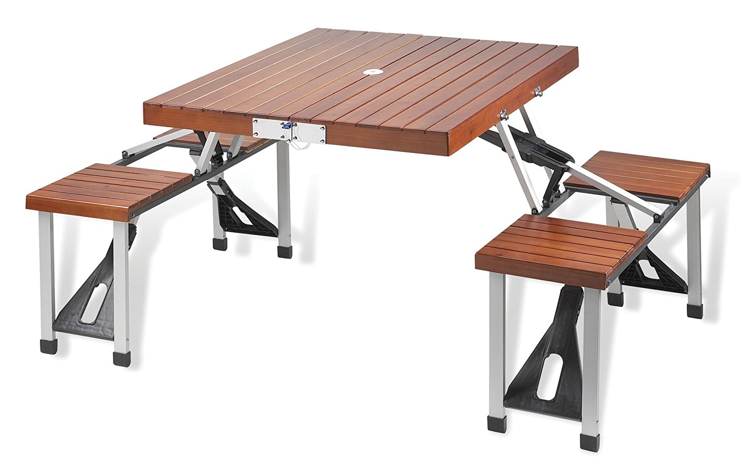 Master folding camping table and chairs amazon.com: picnic at ascot portable picnic table set: kitchen u0026 dining rdgboee