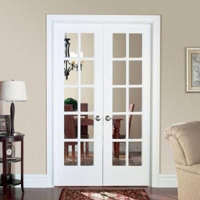 Master prehung interior french doors masonite smooth 10 lite solid core primed pine double prehung interior  french itmtdsy