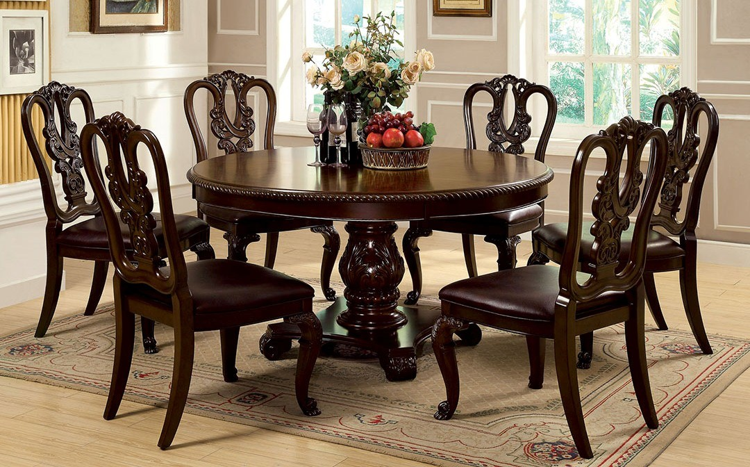 Master round dining room table sets furniture of america cm3319rt w sc set bellagio round dining room set ivmyntp
