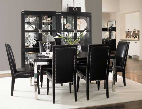 Modern black dining room furniture ... black dining room sets qbwqxid