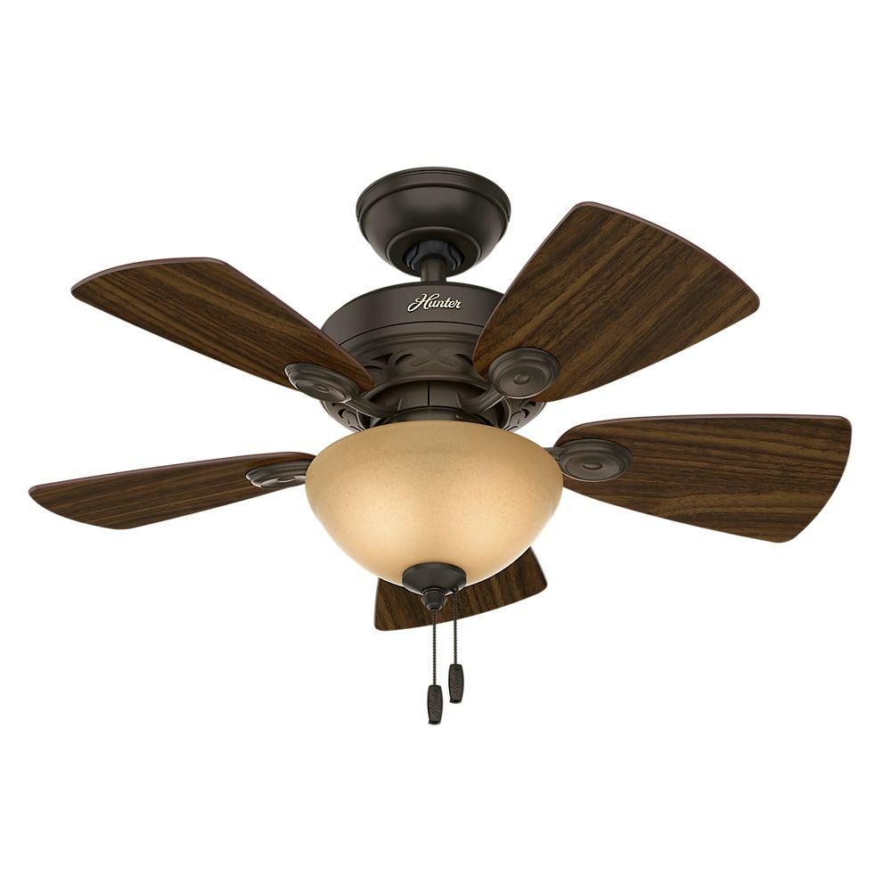 Modern hunter ceiling fans with lights hunter watson 34 in. indoor new bronze ceiling fan with light kit yxylyla