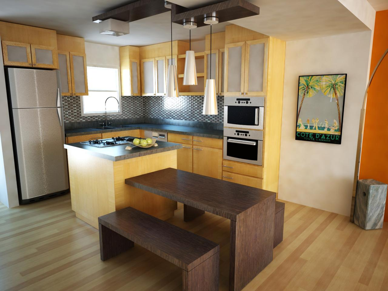 How to add kitchen islands for small kitchens