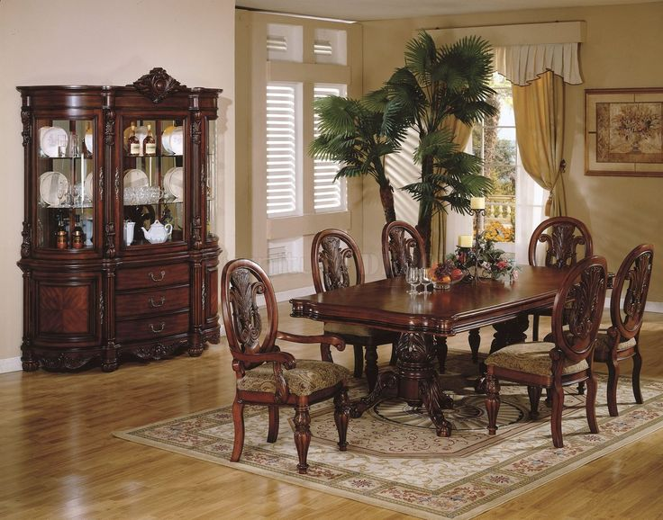 Modern traditional dining room sets traditional formal cherry wood dining room pedestal table set furniture new fwqigey