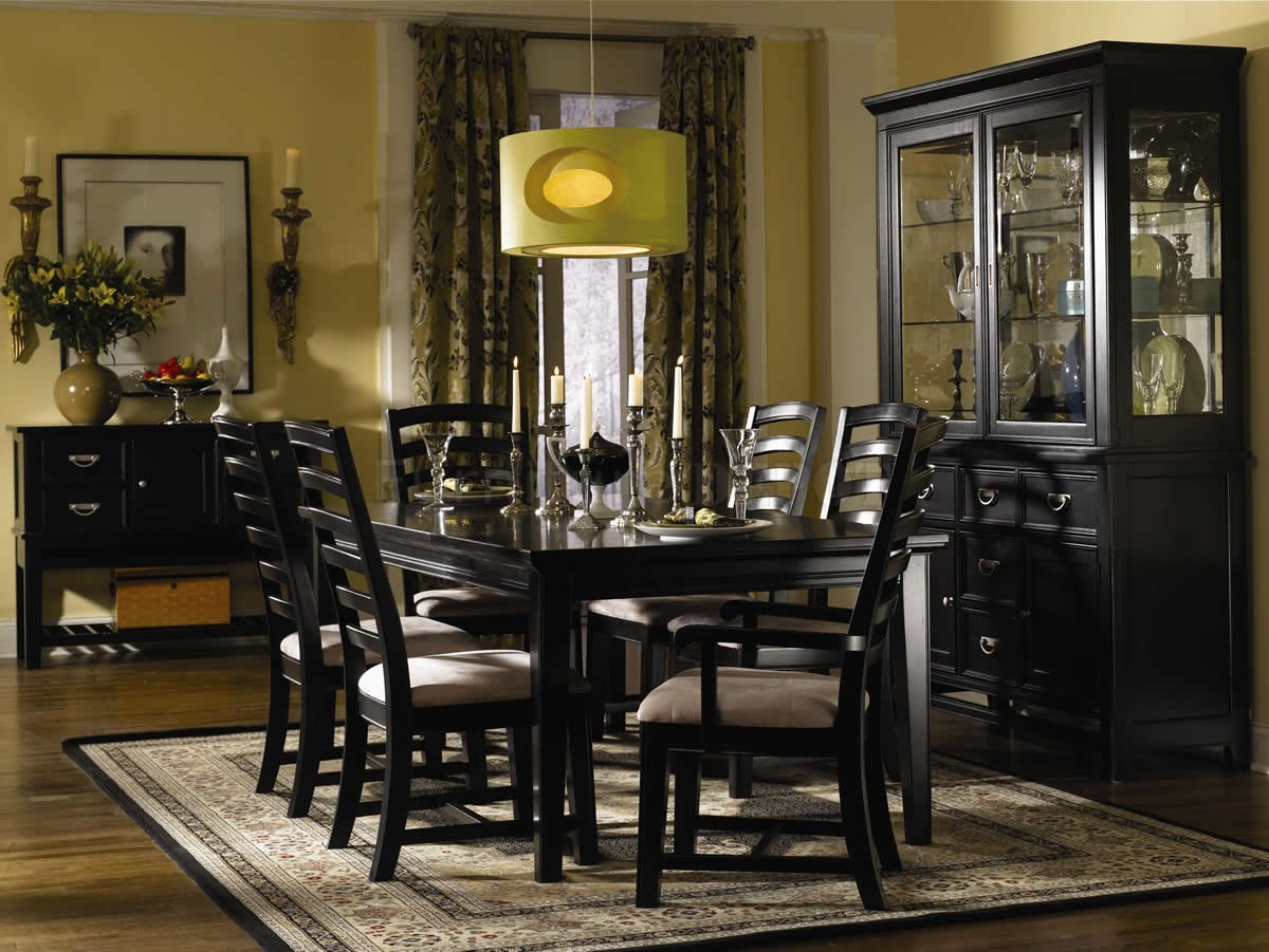 Modular black dining room furniture full size of ... jwzizht