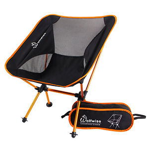Modular folding camping chairs in a bag image is loading wolfwise-portable-folding-camping-chairs-backpack-carry-bag - phtlfyj