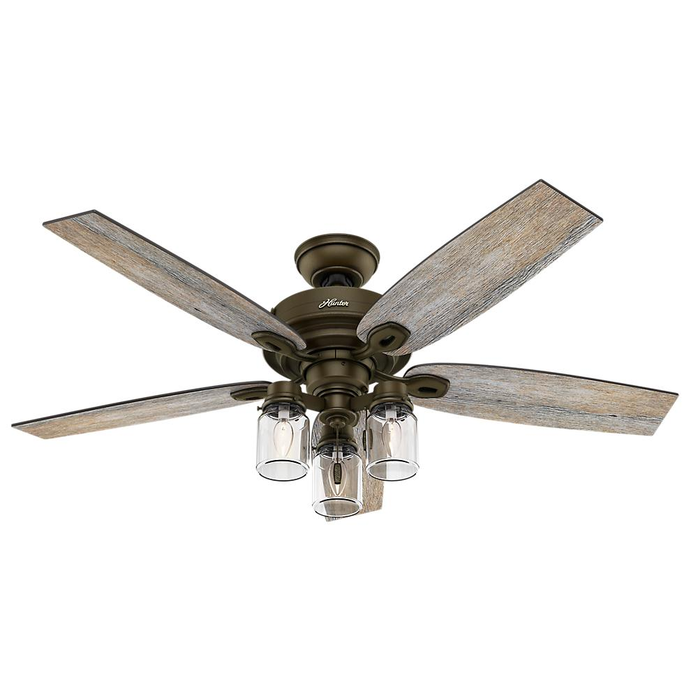 Modular hunter ceiling fans with lights hunter crown canyon 52 in. indoor regal bronze ceiling fan vdcvzuk