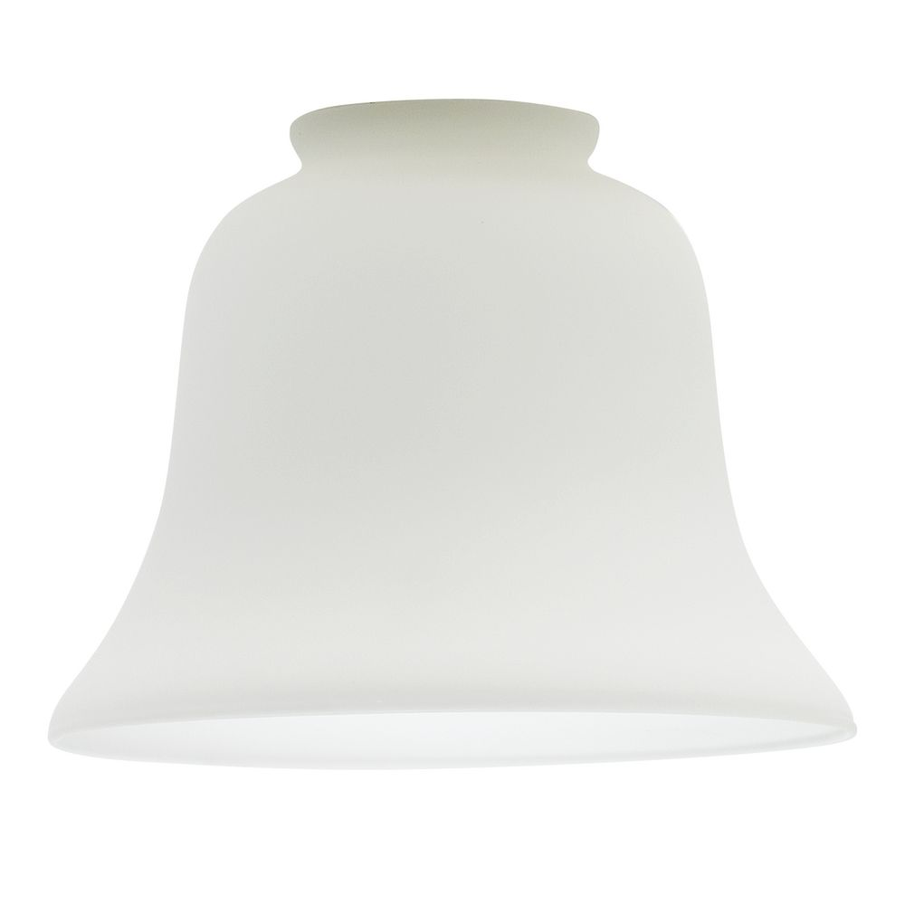 Modular replacement glass lamp shades satin white bell glass shade - 2-1/4-inch fitter opening wtrvrix